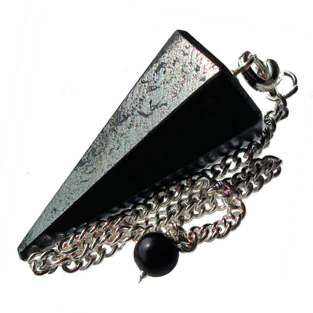 Hematite dowsing pendulum crystal point aloadofball