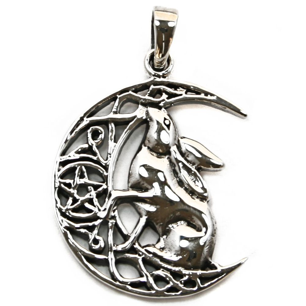 goddess hecate wiccan image pendant pagan jewelry products necklace lunar