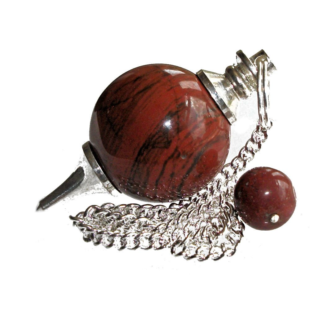 Red jasper ball dowsing pendulum aloadofball Choice Image